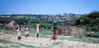 Vesnice ma březích jezera Langana - Etiopie